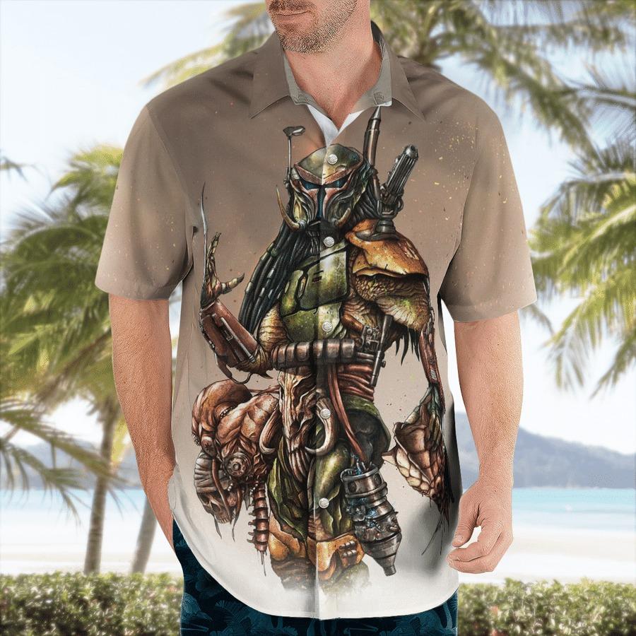 Star wars Boba Predator Hawaiian Shirt 1