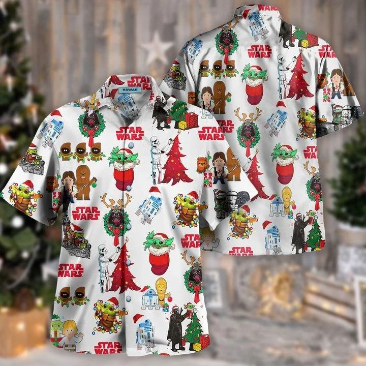 Star wars christmas hawaiian shirt 2