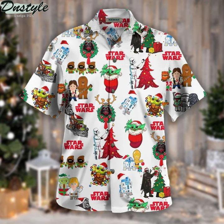 Star wars christmas hawaiian shirt