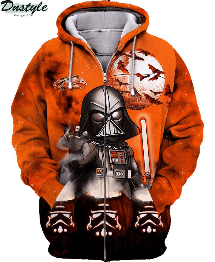 Star wars darth vader halloween night 3d printed hoodie and hawaiian shirt