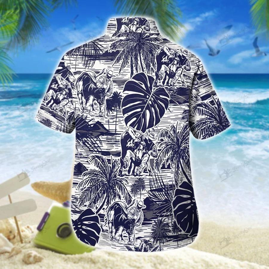 Steer wrestling hawaiian shirt 1