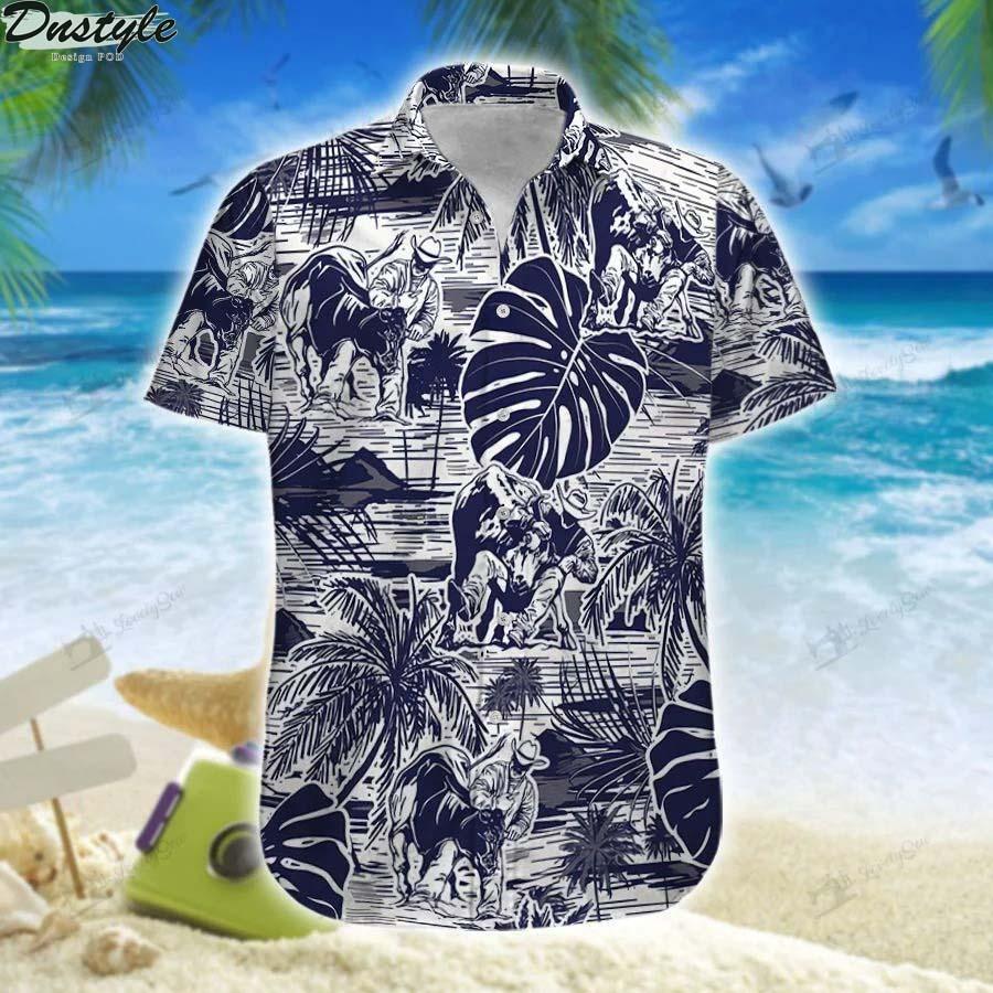 Steer wrestling hawaiian shirt