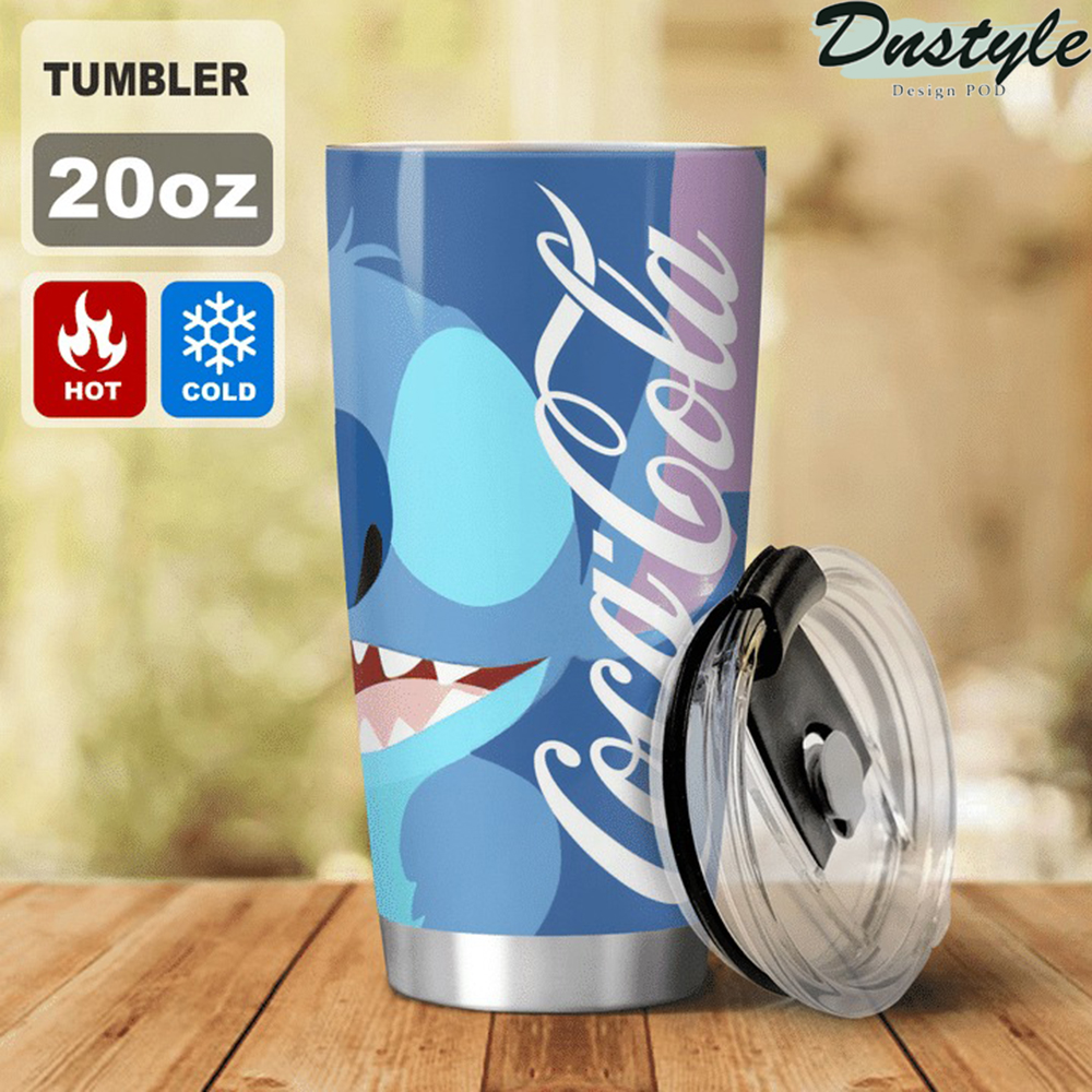 Stitch I don't care what day it is Coca cola tumbler 2