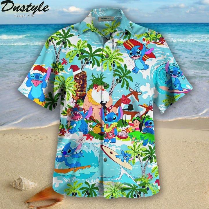 Stitch santa hawaiian shirt