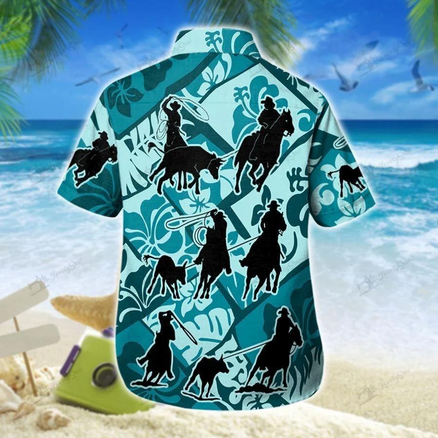 Team roping cross hawaiian shirt 1