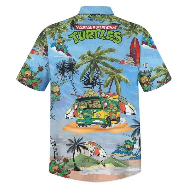 Teenage Mutant Ninja Turtles TMNT hawaiian shirt 1