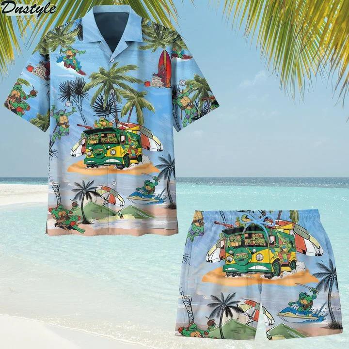 Teenage Mutant Ninja Turtles TMNT hawaiian shirt and short
