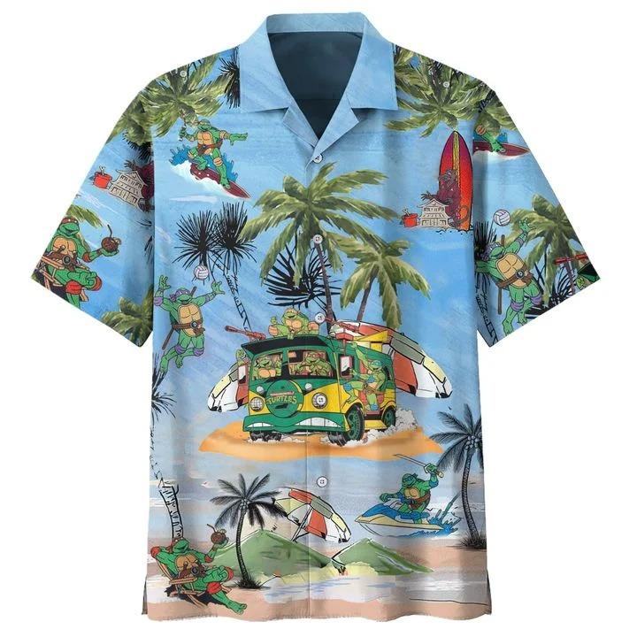 Teenage Mutant Ninja Turtles TMNT hawaiian shirt