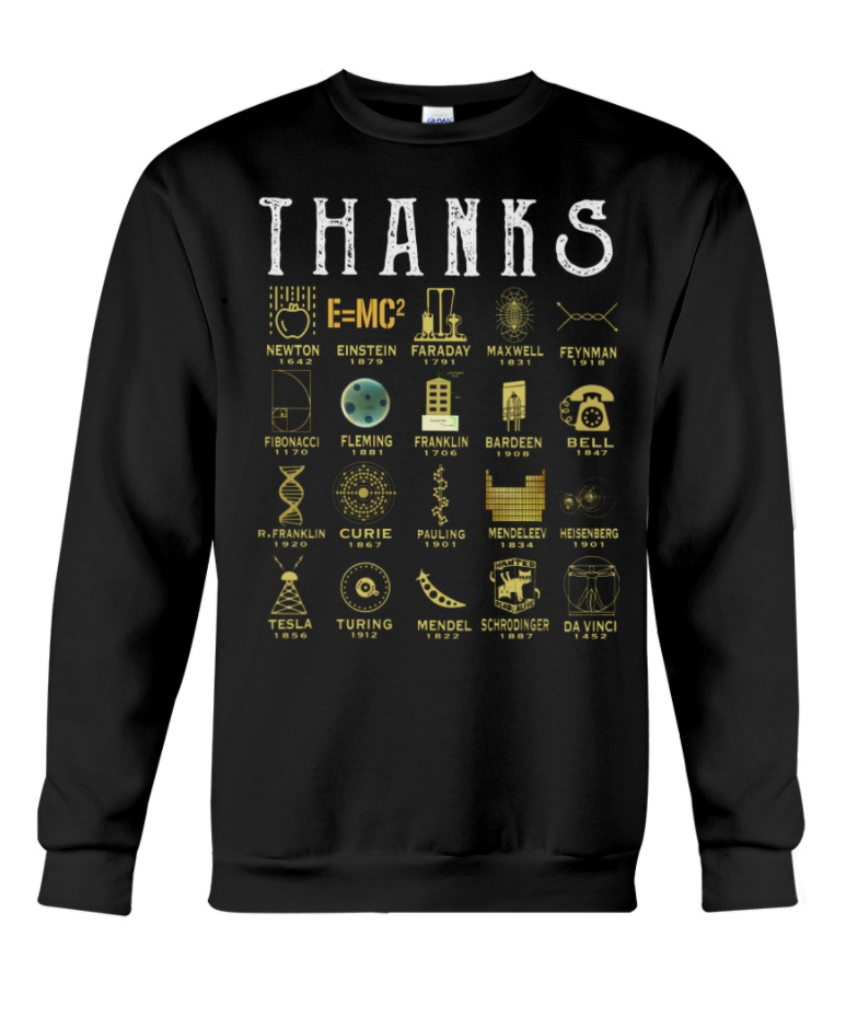 Thank sciences sweatshirt