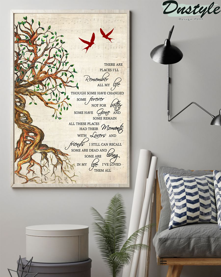 The Beatles in my life there are places lyrics poster