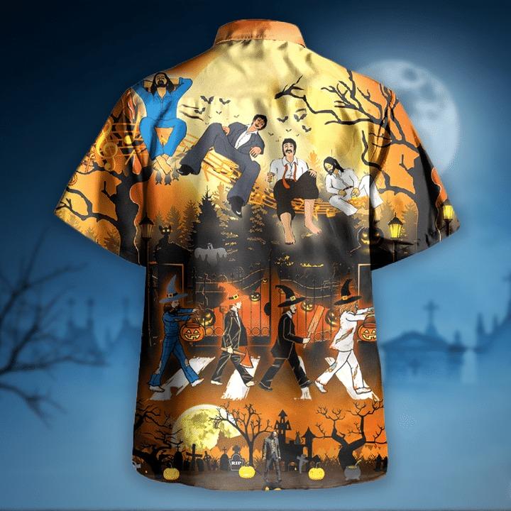 The beatles funny halloween hawaiian shirt 1