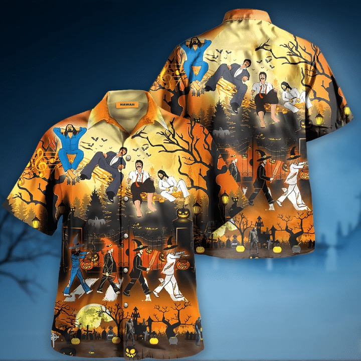The beatles funny halloween hawaiian shirt 2