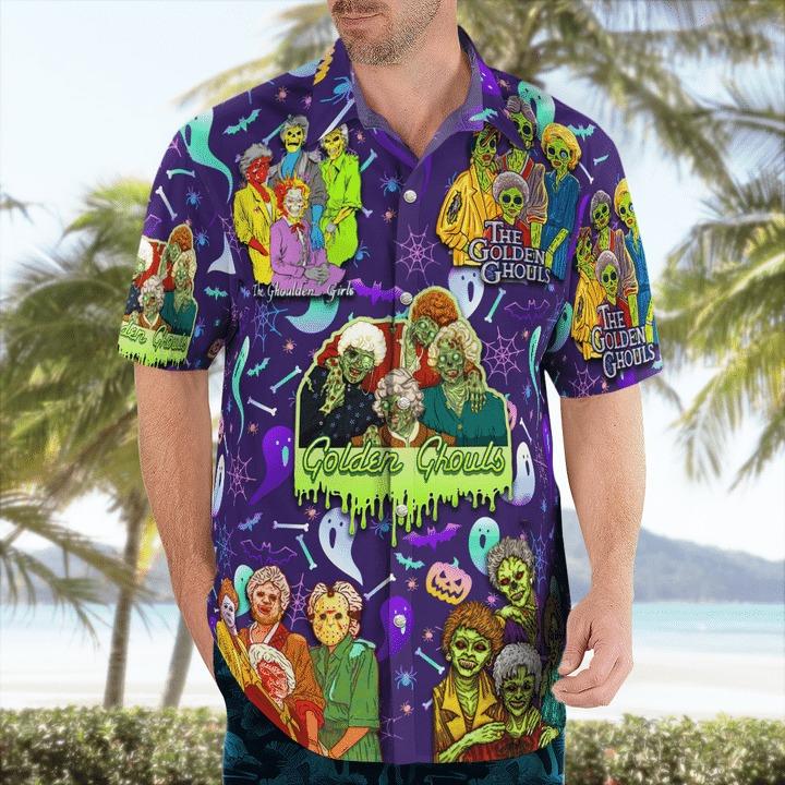 The golden ghouls hawaiian shirt 1