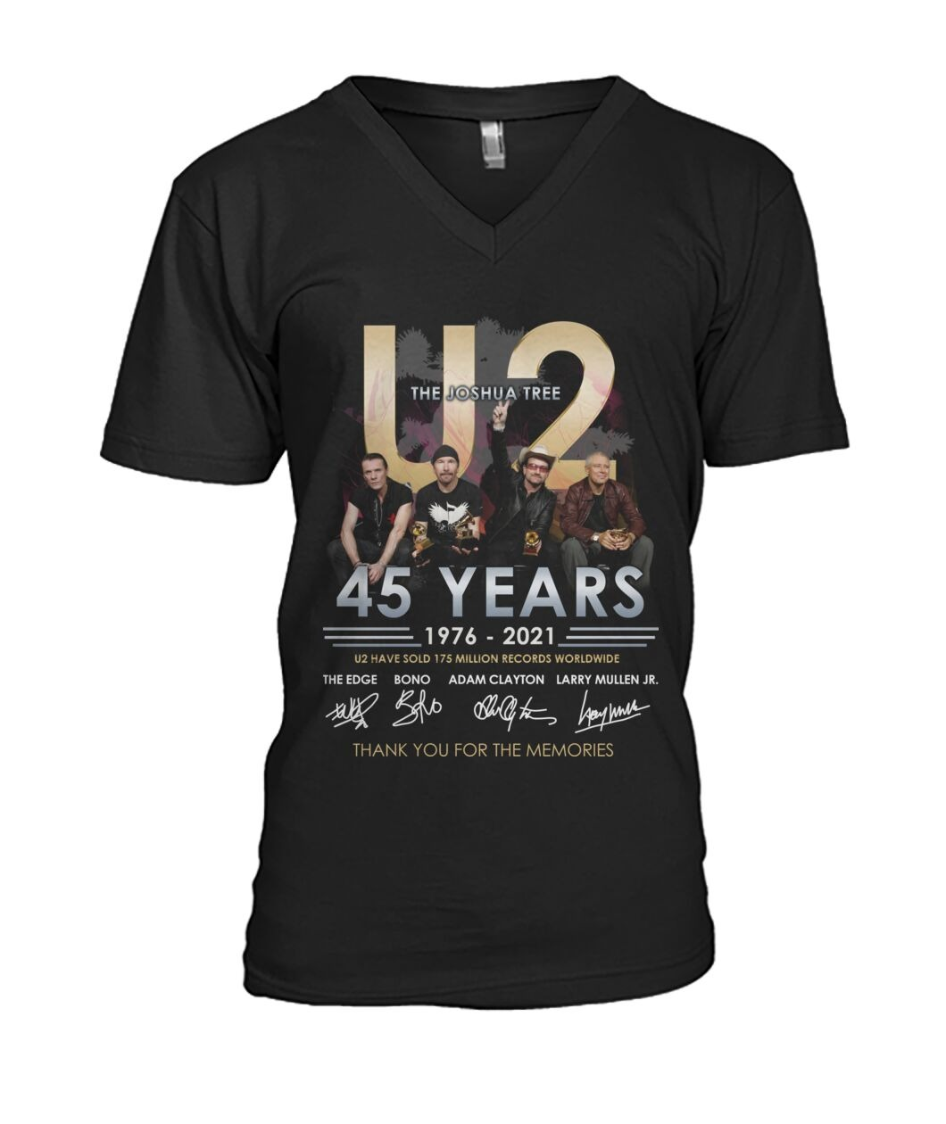 The joshua tree U2 45 years thank you for the memories v-neck