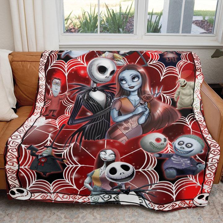 The nightmare before christmas red velvet blanket 2