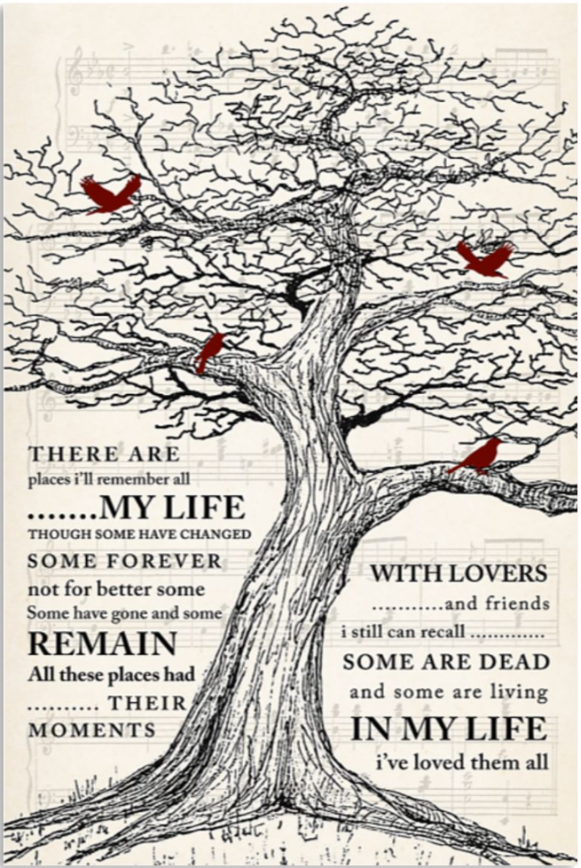 There are places i'll remember all my life poster