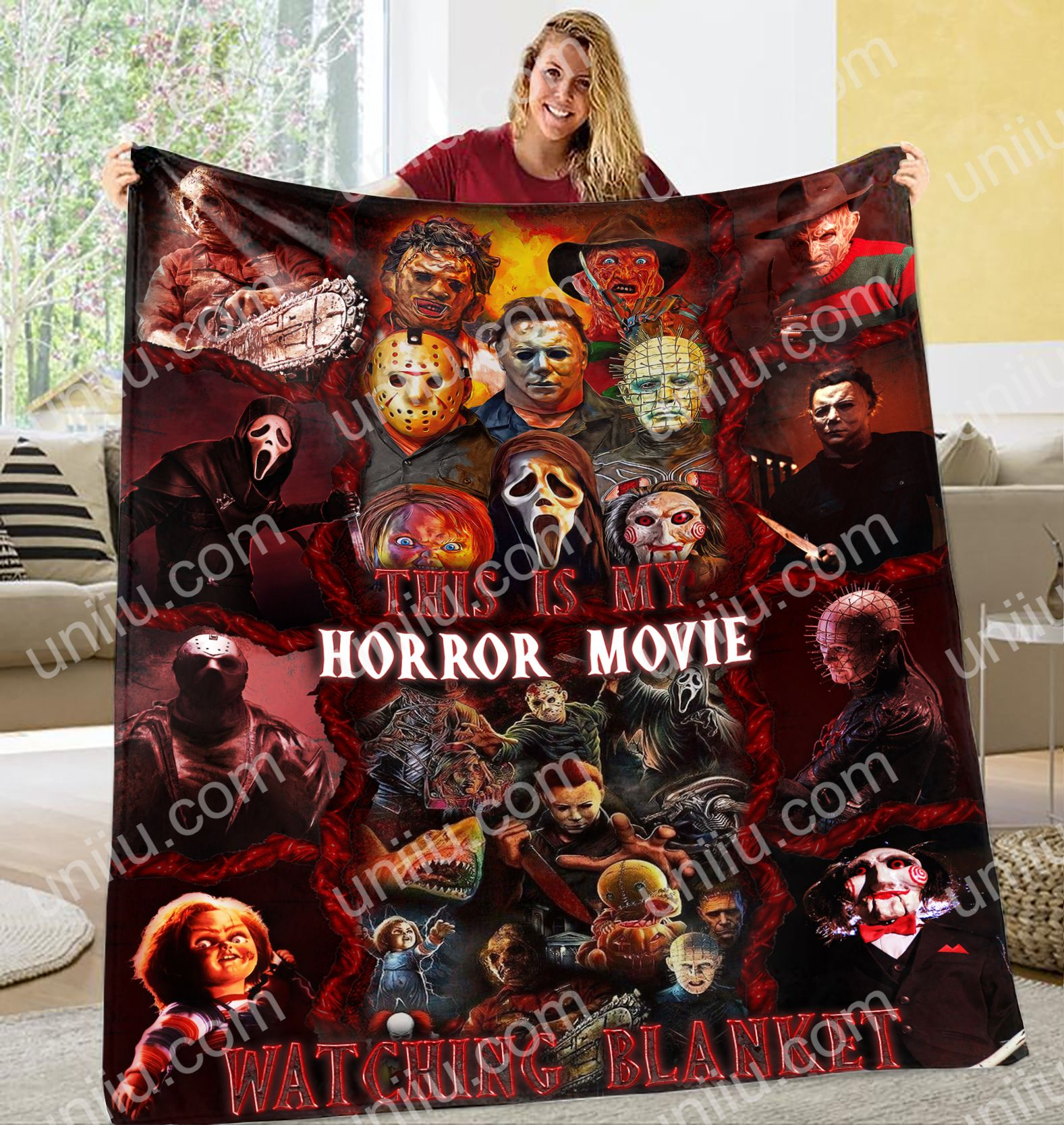 This is my horror movies watching blanket