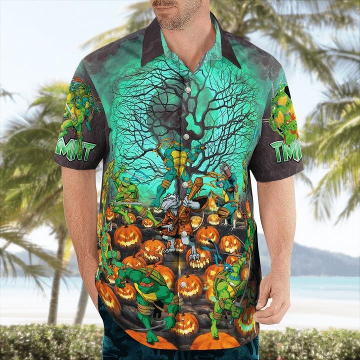 This is my human costume i'm actually a ninja hawaiian shirt 1