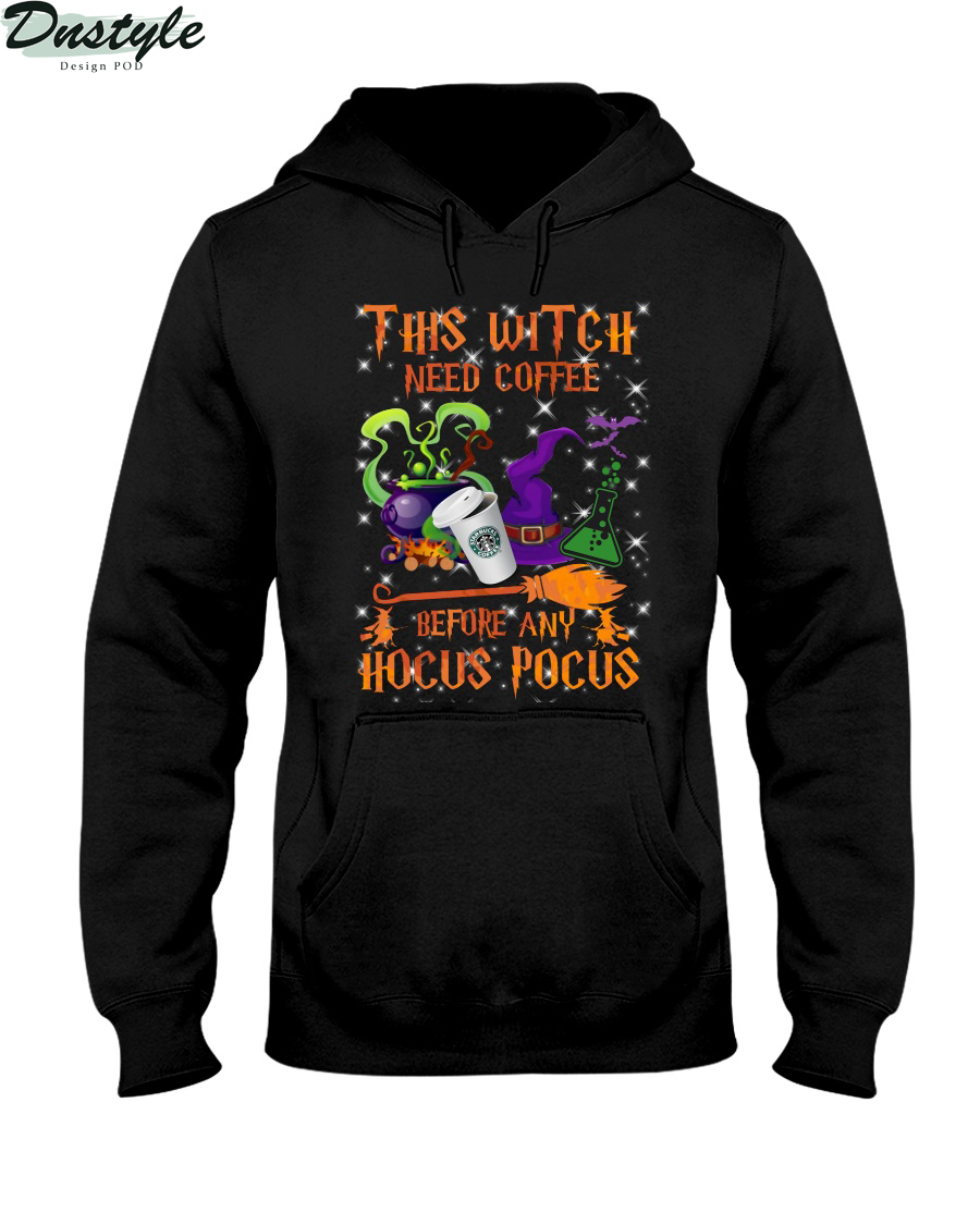 This witch need coffee before any Hocus Pocus hoodie