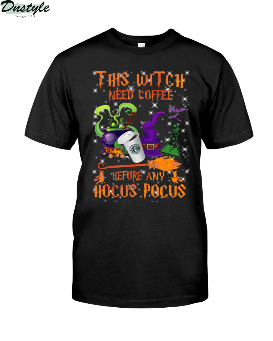 This witch need coffee before any Hocus Pocus shirt