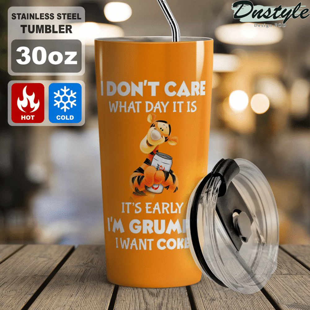 Tigger I don't care what day it is Coca cola tumbler 1