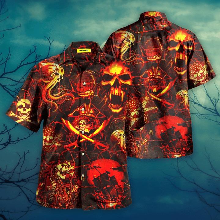 Time of the pirates hawaiian shirt 2