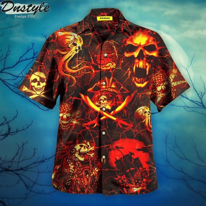 Time of the pirates hawaiian shirt