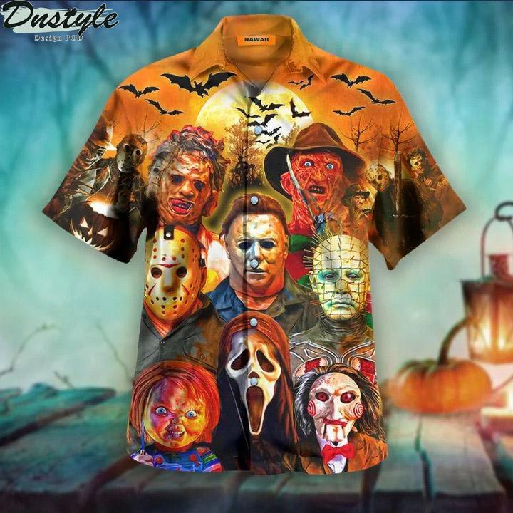 Trick or treat halloween unisex hawaiian shirt