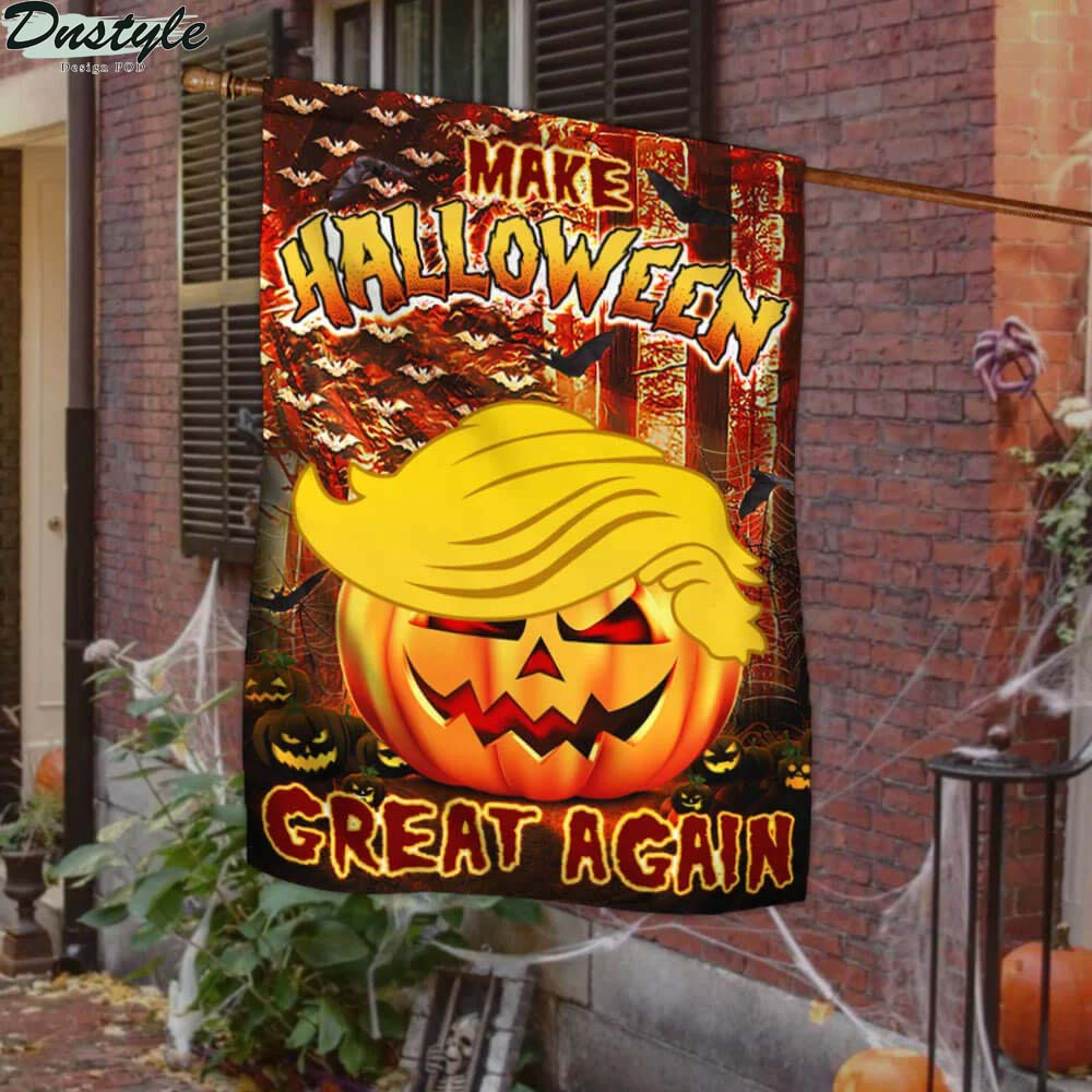 Trump make halloween great again halloween pumpkin flag