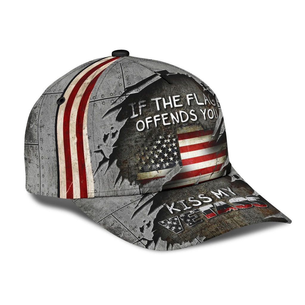 Veteran if the flag offends you kiss my vetass classic cap hat 1
