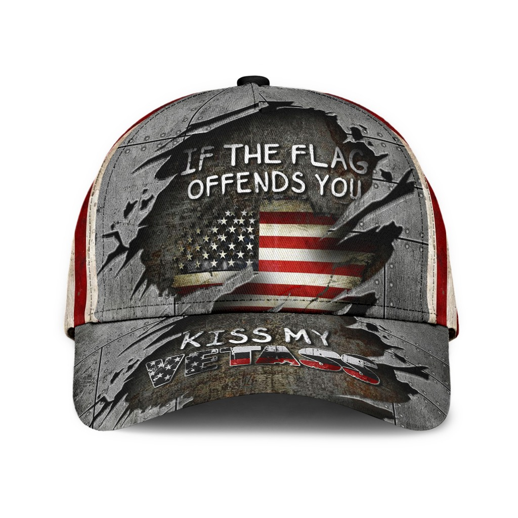Veteran if the flag offends you kiss my vetass classic cap hat