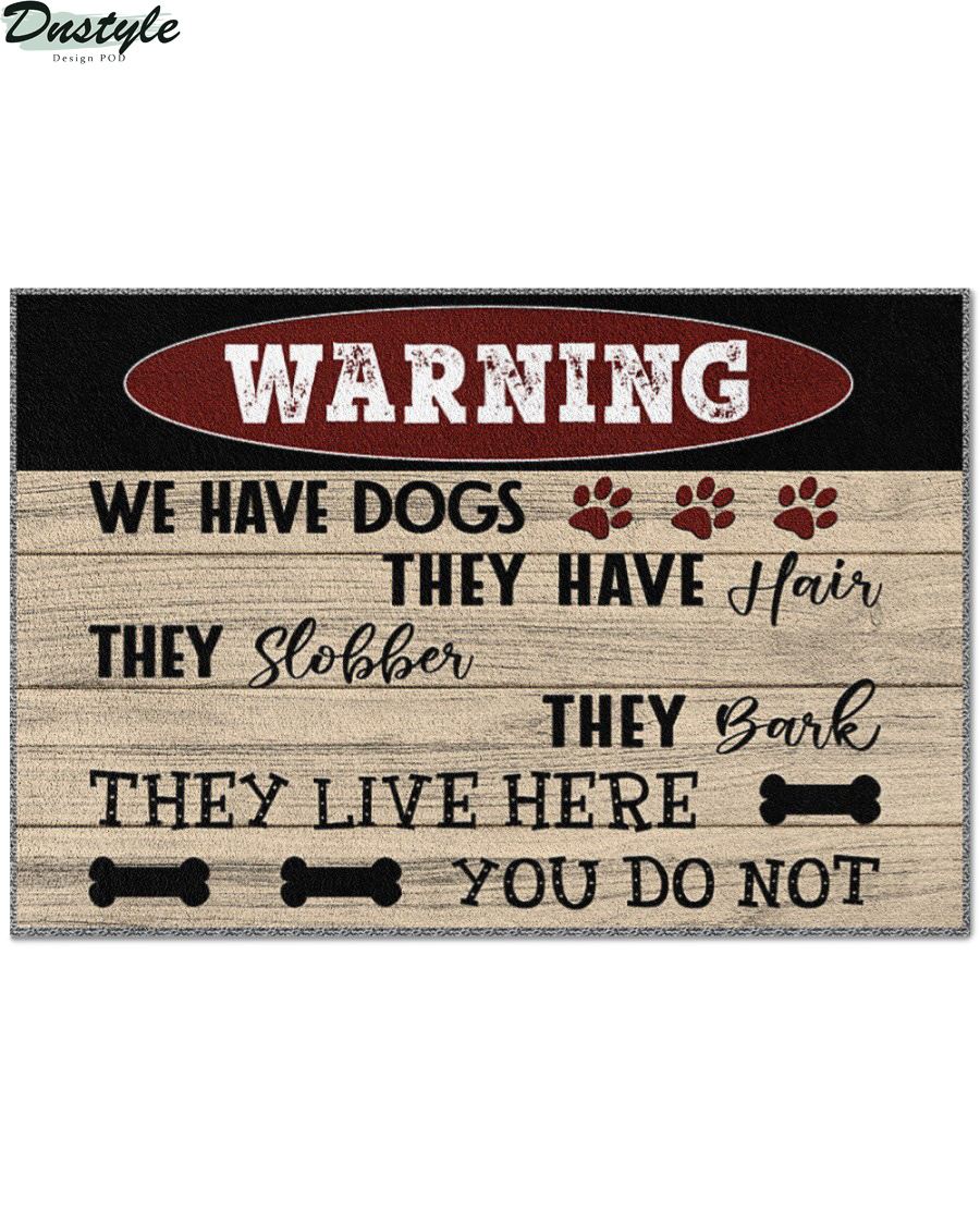 Warning we have dogs they have hair they slobber doormat