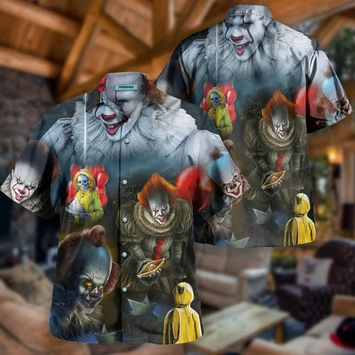 We all float down here pennywise hawaiian shirt 2