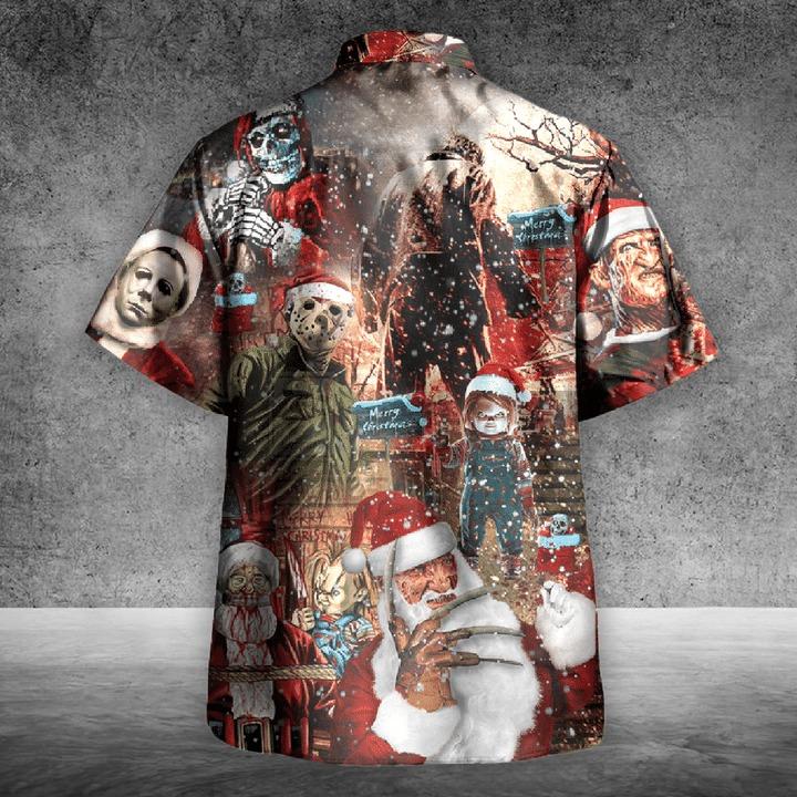 We wish you a scary christmas hawaiian shirt 2