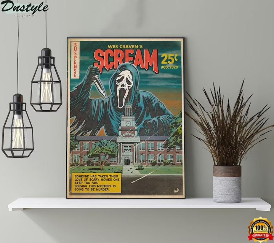 Wes Craven's sream horror movie halloween poster
