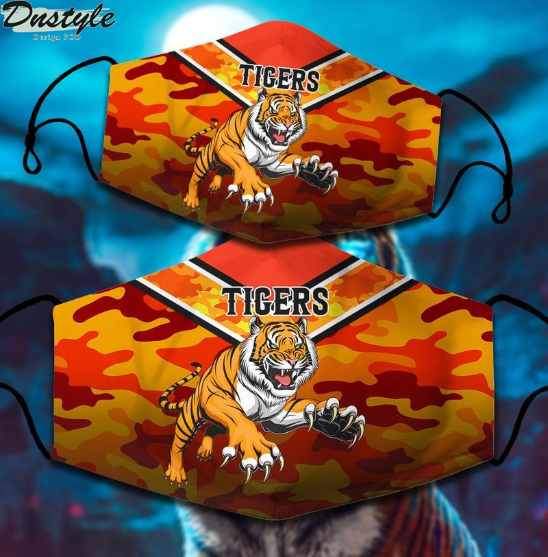 Wests Tigers NRL 3d face mask