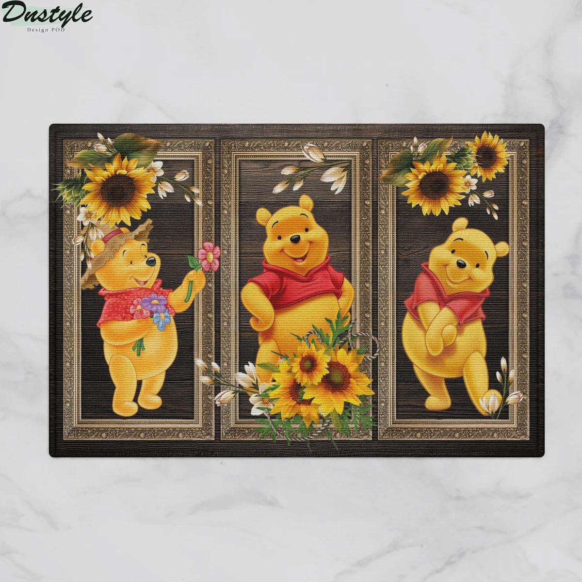 Winnie-the-Pooh sunflower doormat 1