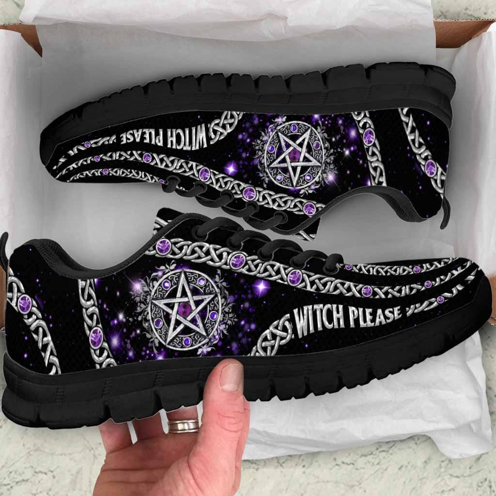 Witch Please Purple Pentagram Sneakers 1