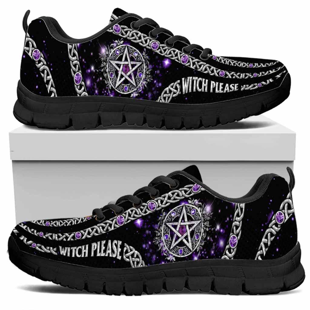 Witch Please Purple Pentagram Sneakers 2