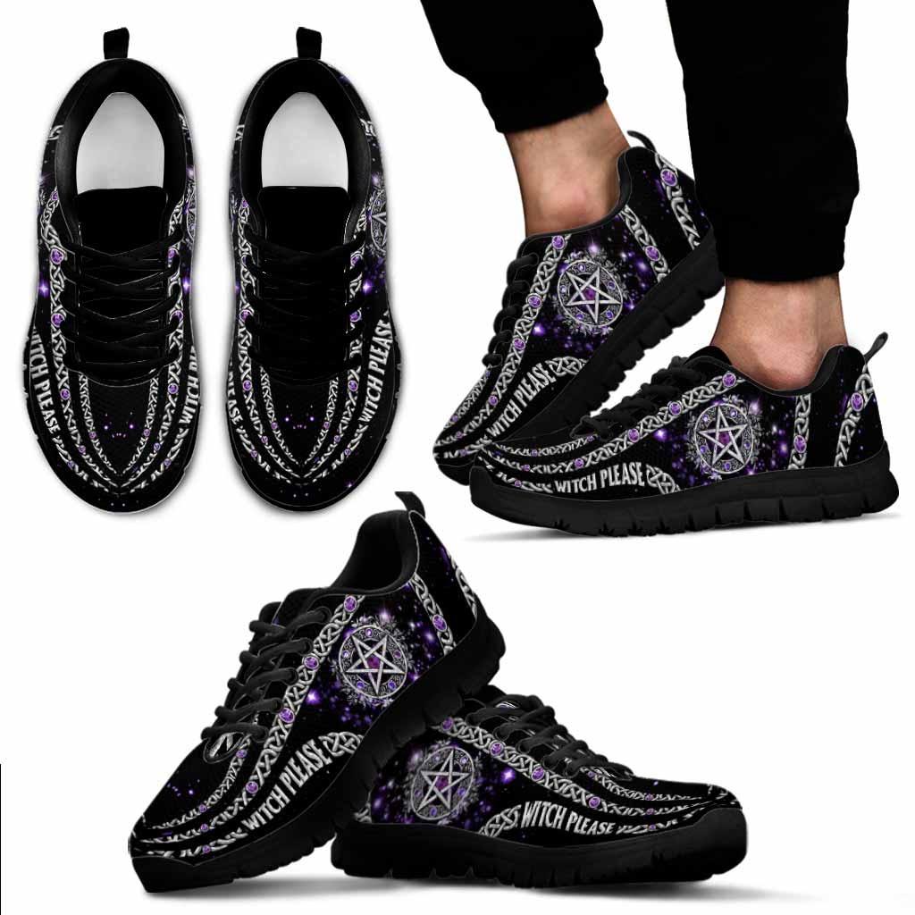 Witch Please Purple Pentagram Sneakers 3
