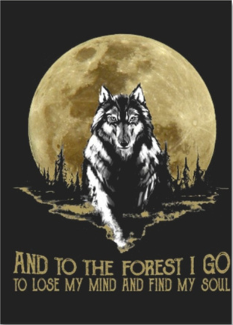 Wolf and into the forest i go to lose my mind and find my soul sticker
