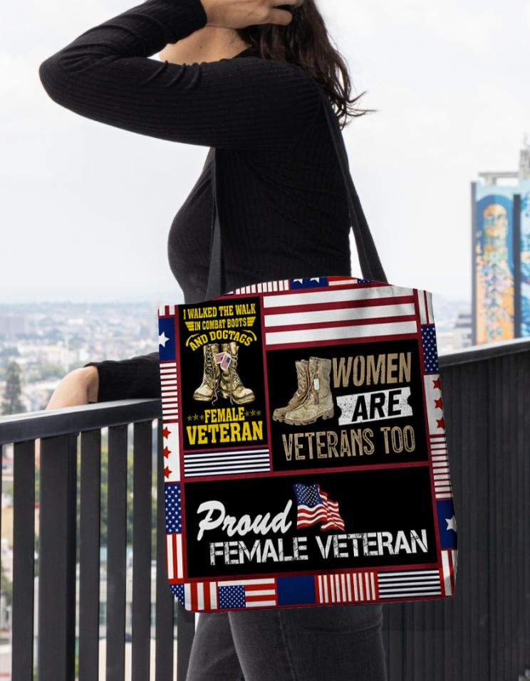Women are veteran too tote bag