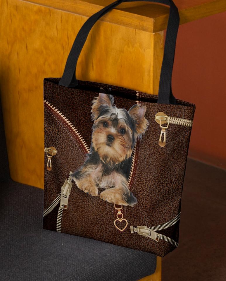 Yorkshire Terrier Zipper tote bag