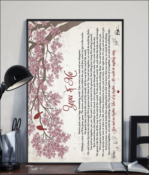 You and me lyric poster