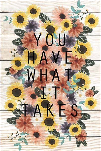 You have what it takes poster