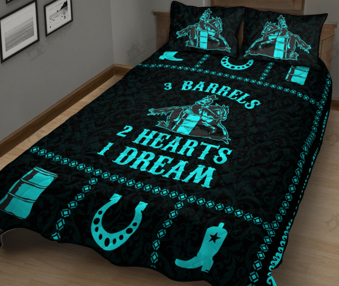 3 barrels 2 hearts 1 dream bedding set