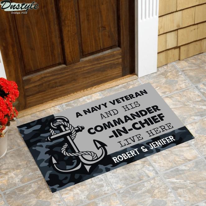 A navy veteran and his commander-in-chief live here doormat