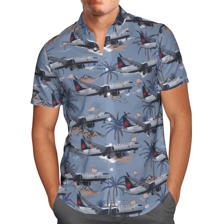 Air canada boeing 737-8 max hawaiian shirt 1