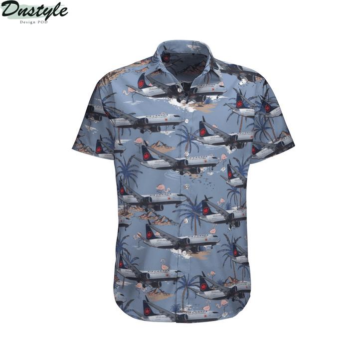 Air canada boeing 737-8 max hawaiian shirt