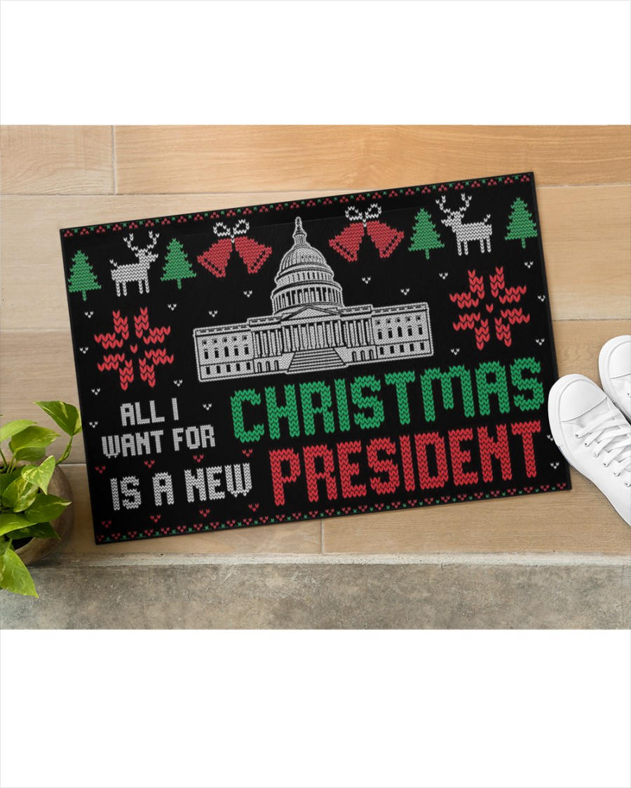 All I want for christmas is a new president doormat 1